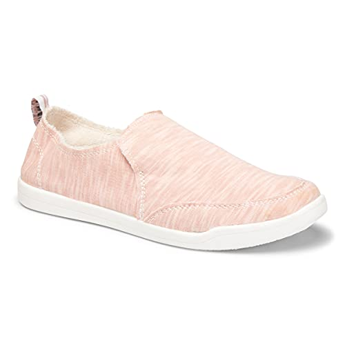 Vionic Beach Malibu Casual Women's Slip On Sneakers-Sustainable Shoes That Include Three-Zone Comfort with Orthotic Insole Arch Support, Machine Wash Safe- Sizes 5-11 Dusty Rose 8 Medium US