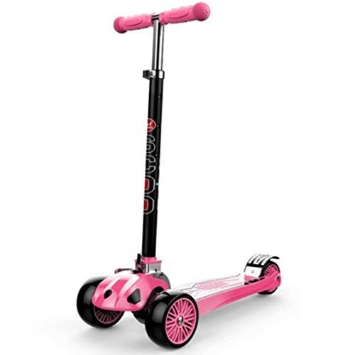 Scooters para Niños Ampliación de scooter espesante para niños de 3 a 14 años con ruedas de flash, scooter de niños 4 altura ajustable, scooter de niños pequeños Antideslizante Scooter Patinete Niño
