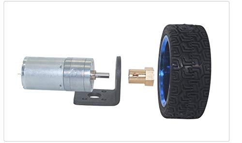 X-BAOFU, 1pc Hobby RC de Marchas for vehículos Motors Piezas de Robot 6 voltios DC Motorreductores 65mm Juego de Ruedas 12 RPM hasta 1360 RPM Durante Motorreductores Robot de Coches de Juguete