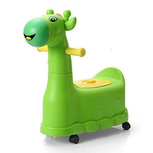 HomDSim Orinal para bebé, ruedas de entrenamiento, orinal, asiento para orinal, taburete para niños y niñas, jirafa