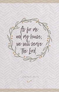 Bulletin-As For Me And My House (Joshua 24:15 KJV) (Pack Of 100)