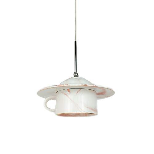 Nordic creatieve koffiemok kroonluchter roze grijs marmer keramiek theepot thee hanglampen voor keuken slaapkamer bar koffie dessert winkel bar restaurant decoratie plafondlamp
