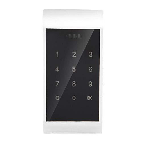 Bloqueo de código electrónico, Bloqueo Digital Inteligente sin Llave con Pantalla táctil cerraduras de Seguridad de aleación de Zinc para Hotel, Club Privado, etc.(Silver)