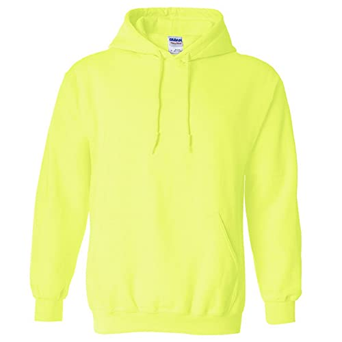 Gildan Men's Fleece Hooded Sweatshirt, Style G18500, Safety Green, 3X-Large