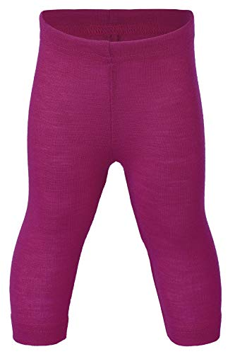 Engel Natur, Baby Leggings/Lange Unterhose, 70% Wolle (kbT), 30% Seide (62/68, Himbeere)