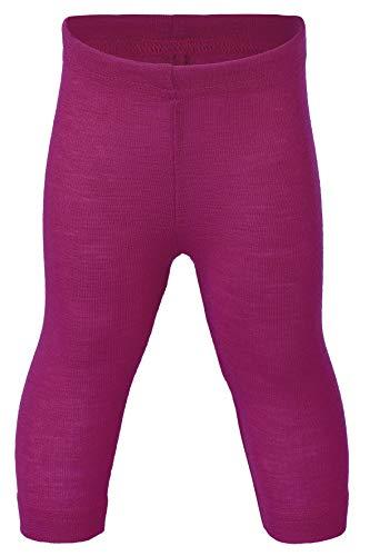 Engel Natur, Baby Leggings/Lange Unterhose, 70% Wolle (kbT), 30% Seide (86/92, Himbeere)