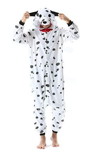 SAMGU Tier Onesie Pyjama Cosplay Kostüme Schlafanzug Erwachsene Unisex Animal Tieroutfit tierkostüme Jumpsuit Hund L