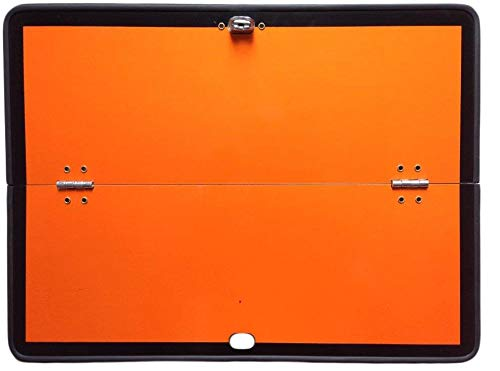 Fahrzeugbedarf Wilms Gefahrgutwarntafel ADR Warntafel orange horizontal klappbar 400x300mm Alu LKW