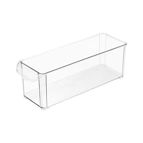 2 stuks Opslag Container Koelkast Bin Voedsel-opslag Koelkast Organizer Diepvries Bin for Pantry Kitchen Cabinet (Color : Clear, Size : 2Pcs)