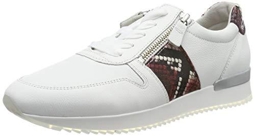 Gabor Damen Jollys Sneaker, Rot (Weiss/Rubin 25), 40 EU
