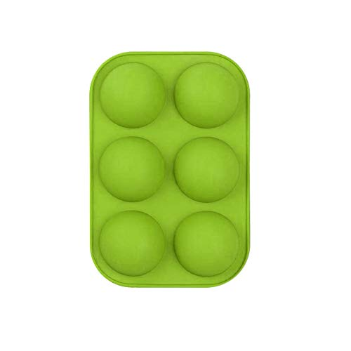 MARIJEE Molde de silicona semiesférica de 6 cavidades, molde para hornear para hacer chocolate, pasteles, gelatina, mousse
