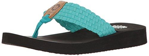 Yellow Box Women's Soleil Flip-Flop, turquoise, 8.5 Medium US