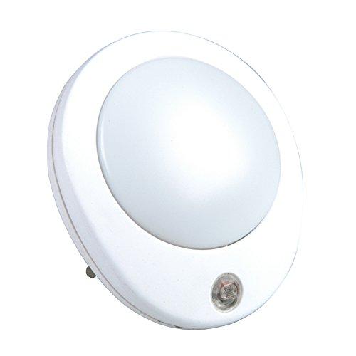 UNITEC Orientierungslicht LED m.Dämmerungssensor rund ws, Plastik, 0.5 W, weiߟ, 18.5 x 12 x 7 cm