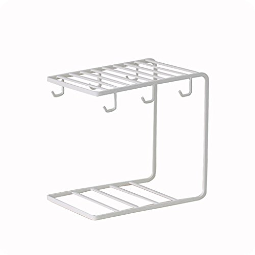 WXP Kitchen furniture - Porte-gobelet Créative Porte-gobelet simple Cuisine à la maison Étagères de rangement Tasses à café Porte-gobelets Fer forgé Peinture à l'aération Porte-gobelets blanc Armoi