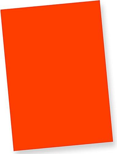 Tatmotive Neonpapier Fine50 Extrem Grell NEON DIN-A4, 80 g/qm farbiges Briefpapier, Leuchtpapier, 50 Blatt - Feuerwehr-Rot