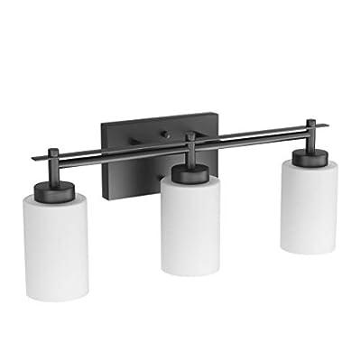Black Vintage Vanity Light, Aipsun Bathroom Vanity Lighting Fixtures Industrial Vanity Light for Bathroom Black Wall Light Over Mirror(Exclude Bulb)