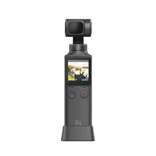 Fimi Palm Gimbal Camera, XiaoMi 3 Axis 4K HD Handheld Gimbal Stabilizer with Integrated Camera Pocket, 128° Super Wide Angle, Anti-Shake Shoot Smart Track, Built-in Wi-Fi Remote Control