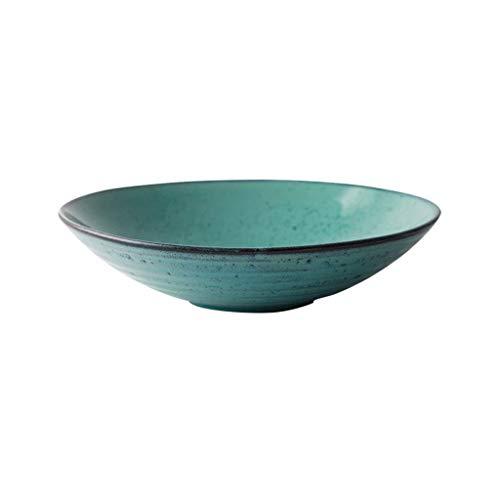 EIIDJFF Bowls Fruit Bowl Ceramics Salad Bowl Soup Bowl Cereal Bowl Shallow Mouth Kitchen Utensils Household 23.5X5.5cm