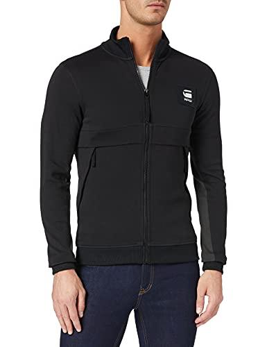 G-STAR RAW Box Graphic Zip Through Tweater Maglia di Tuta, Dk Black C584-6484, M Uomo