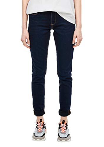 Q/S designed by - s.Oliver Damen 45.899.71.3129 Jeans, Dark Blue Stretched, W44 (Herstellergröße: 44/32)