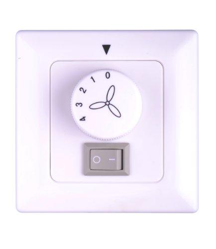 Pepeo Deckenventilator Wandschalter mit Licht Aufputz passend für alle Hersteller, 85975_AB
