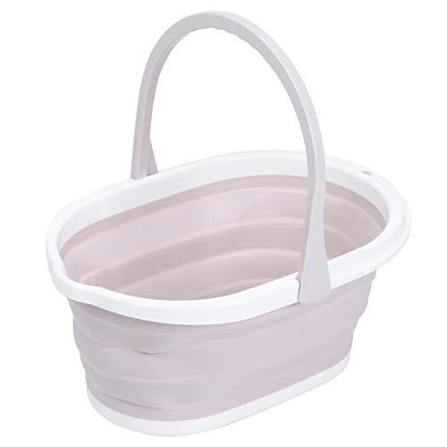 Tomantery Cubo De Fregona Plegable, Cómodo De Sostener Cubo De Fregona Cubo De Limpieza Duradero No Es Fácil De Romper Hermoso Y Práctico para El Baño