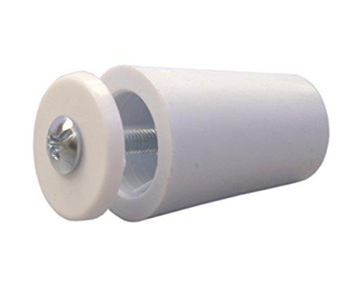 Sysfix Tope para persiana TP 35 Blanco (Caja de 12 Unidades con Tornillo y arandela), 3.5x2.4x2.4 cm
