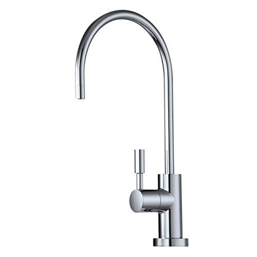 Trinkwasser Filter Wasserhahn, Chrom Schwanenhals Moderner Europäischer Stil Für Alle Wasserfilter Systeme & RO