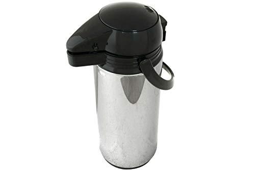 Posten Anker Kaffeekanne I Teekanne I XXL Volumen 1,9 Liter Pumpkanne I Hochwertiger Edelstahl mit Glaseinsatz I Weihnachten I Geburtstag I Kommunion I
