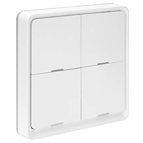FOLOSAFENAR Interruptor de Control de la aplicación del teléfono móvil Interruptor inalámbrico de operación Simple Inteligente con indicador LED, para ZigBee, para cocinas