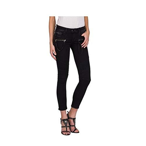 Replay Damen Biker Skinny Jeans 5 Pocket Jeanshose Größe W25/L30
