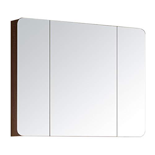 Spiegelschränke Badezimmerschrank Toilettenschrank Feuchtigkeitsbeständiger Umweltschutz (Color : Brown, Size : 90 * 17 * 70cm)