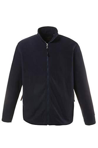JP 1880 Herren große Größen bis 7 XL, Fleece Jacke, Sweat-Jacke, Stehkragen, Reißverschluss & 2 Taschen, Outdoor Kleidung, navy 4XL 705552 70-4XL