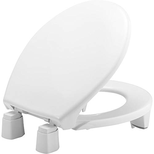 "BEMIS Independence 7YR82300TC 000 Closed-Front Elevated/Raised Toilet Seat with 3"" Lift, ROUND, White"