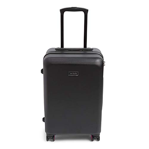 Vera Bradley Hardside Rolling Suitcase Luggage, Black, 22' Carry On