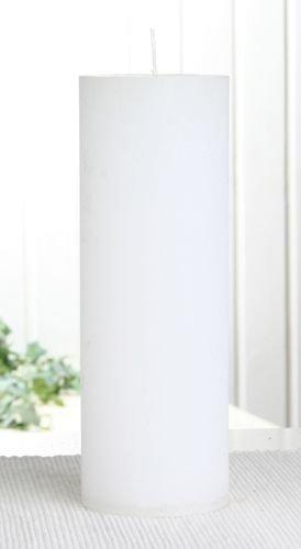 Rustik-Stumpenkerze, 20 x 7 cm Ø, weiß