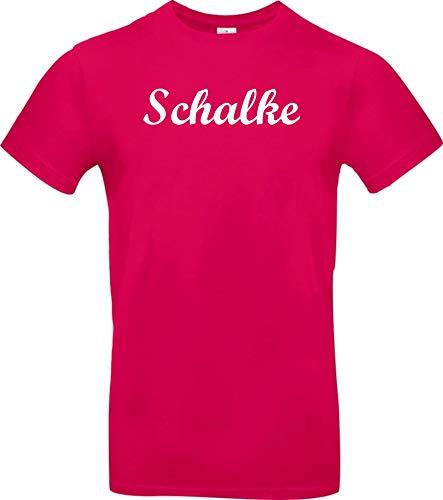 Shirtstown Kinder T-Shirt, Deine Stadt Schalke City Shirts Sport, Kult, Sprüche Spruch Logo, Hemd, Niki, Farbe Pink, Größe, 140