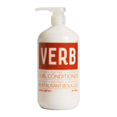 Verb Curl Conditioner, Vegan Anti-Frizz Curl Defining Conditioner Deeply Nourishes and Repairs Damaged Hair, 32 fl oz