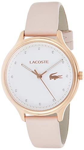 Lacoste Damen Analog Quarz Uhr mit Leder Armband 2001087