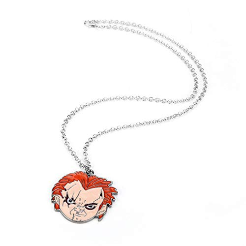 IHZ European and American film and television surroundings, ghost baby bride necklace keychain, Halloween series accessories(Color:necklace)