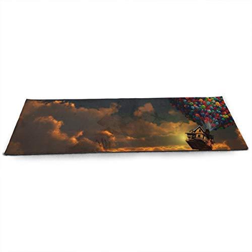 NA UP U-p Films Fantasy Ballonnen Vlucht Wolken Sky Magic Yoga Mat met Gratis Yoga Mesh Bag Milieuvriendelijke anti-slip Oefening Matten voor Pilates.