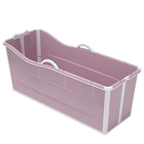 AFDLT Bañera Plegable para Mascota,Tina de Baño Portatil para Adulto,Bañeras Plegables no Inflable para un SPA Simple,Fácil Instalación,Pink