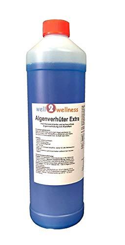 well2wellness Pool Algenverhüter + Algenvernichter Extra \'Blue\' 1,0 l - hochkonzentriert + schaumfrei
