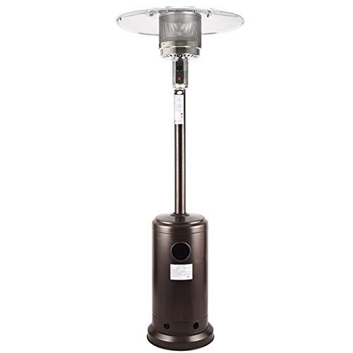 XFXDBT Metal Al Aire Libre Calefactor De Terraza con Ruedas,Estanda Propano Radiador Infrarrojo,Portátil Impermeable Estufa Electrica para El Exterior Protección contra Sobrecalentamiento-A 81x224cm