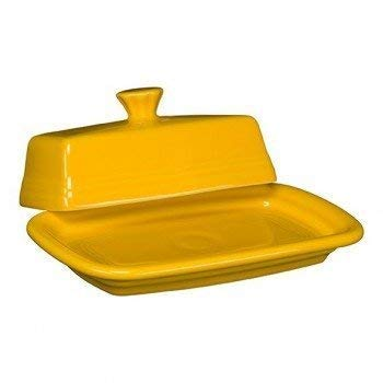 Homer Laughlin Extra Large Covered Butter Dish, Daffodil