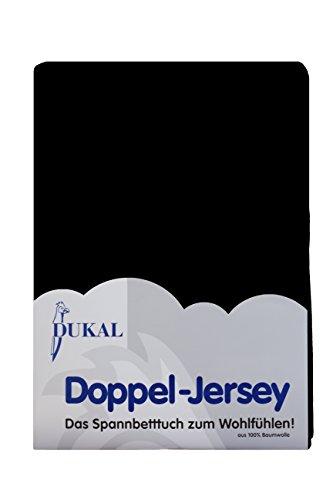 Dukal, Spannbettlaken für Kinderwagen, wiegen & Beistellbetten. Maße: 40x90 cm, aus hochwertigem DOPPEL-Jersey (100% Baumwolle), Farbe: schwarz