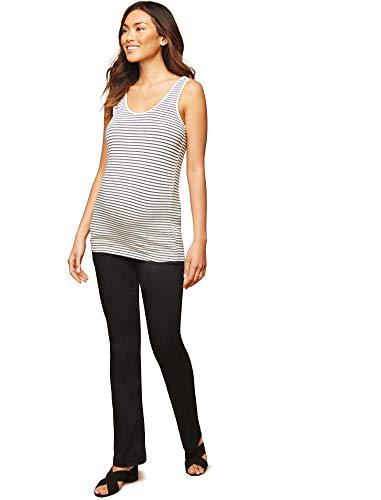 Motherhood Maternity Women's Maternity 5 Pocket Super Soft Secret Fit Belly Boot Cut Pant, Black, Medium