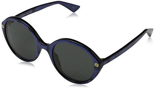 Gucci 0023S_004 (55 mm) gafas de sol, Azul, 55 para Mujer