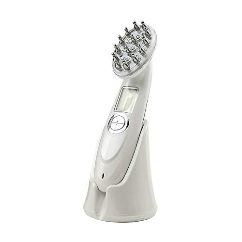 Peine láser infrarrojo eléctrico para el cabello anti caída del cabello Peine RF EMS nano LED cepillo de masaje de vibración de luz roja