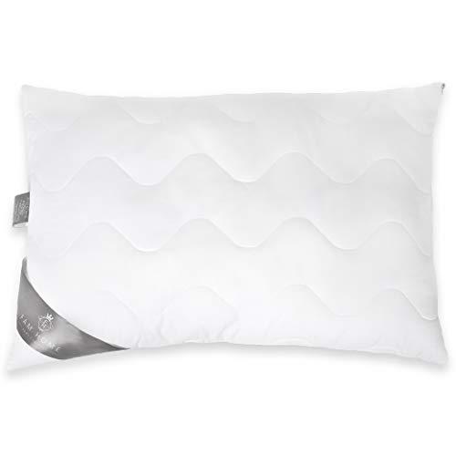 FAM Home Kissen 50x70 Antiallergisches mit Reißverschluss - Kopfkissen Allergiker Voll Anpassbar - Innenkissen Hotelqualität Orthopädisches - Oeko-TEX Standard 100
